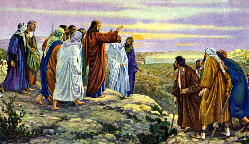 Jesus on hill at Passover